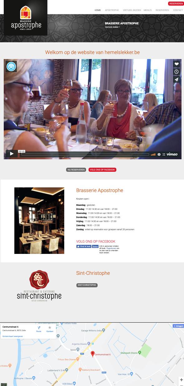 Apostrophe homepage