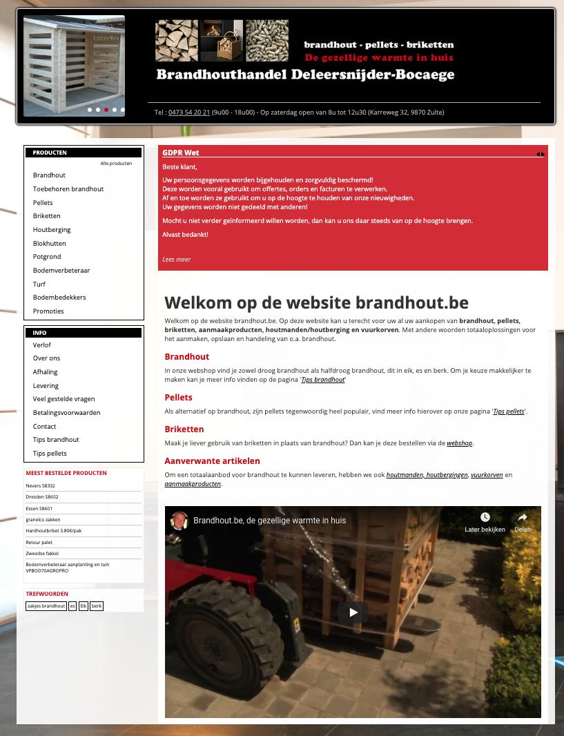 Brandhout homepage