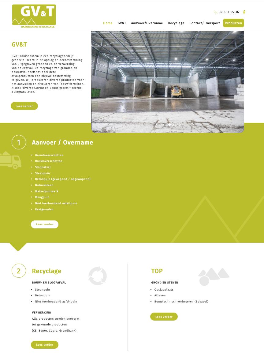 GV&T - Baanbrekend in recyclage homepage