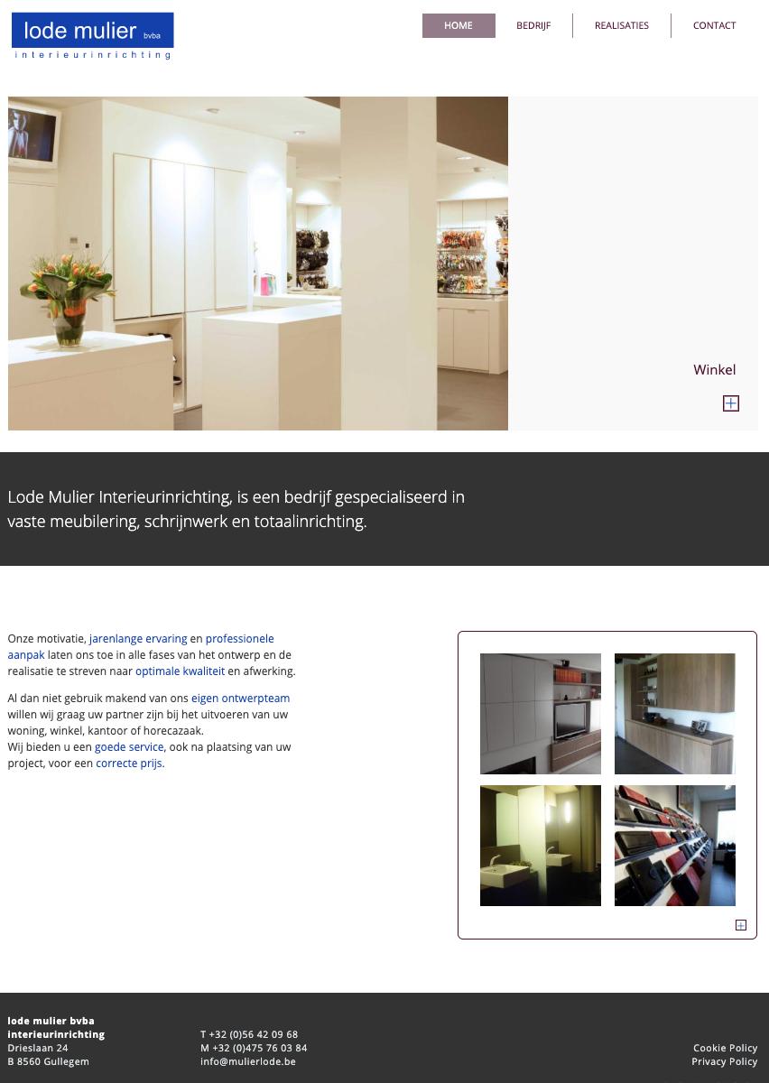 Lode Mulier homepage