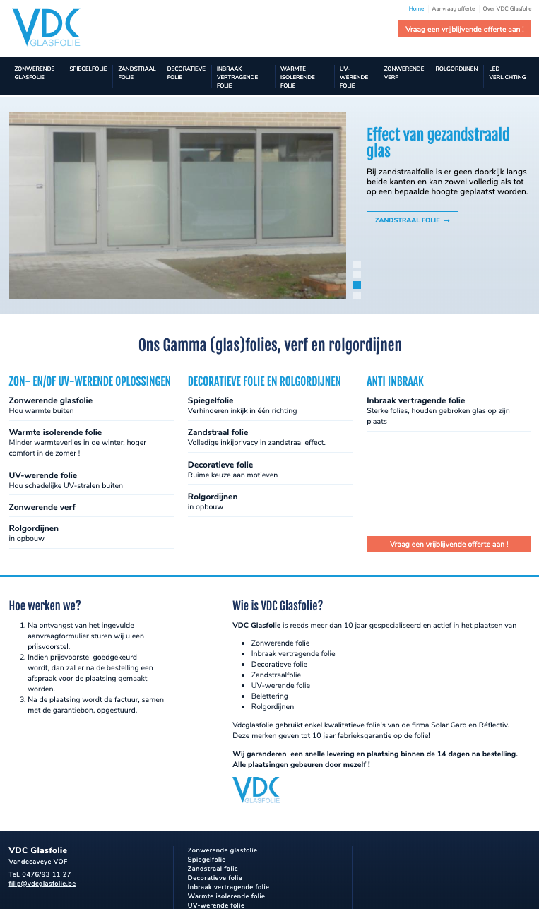 VDC Glafolie homepage