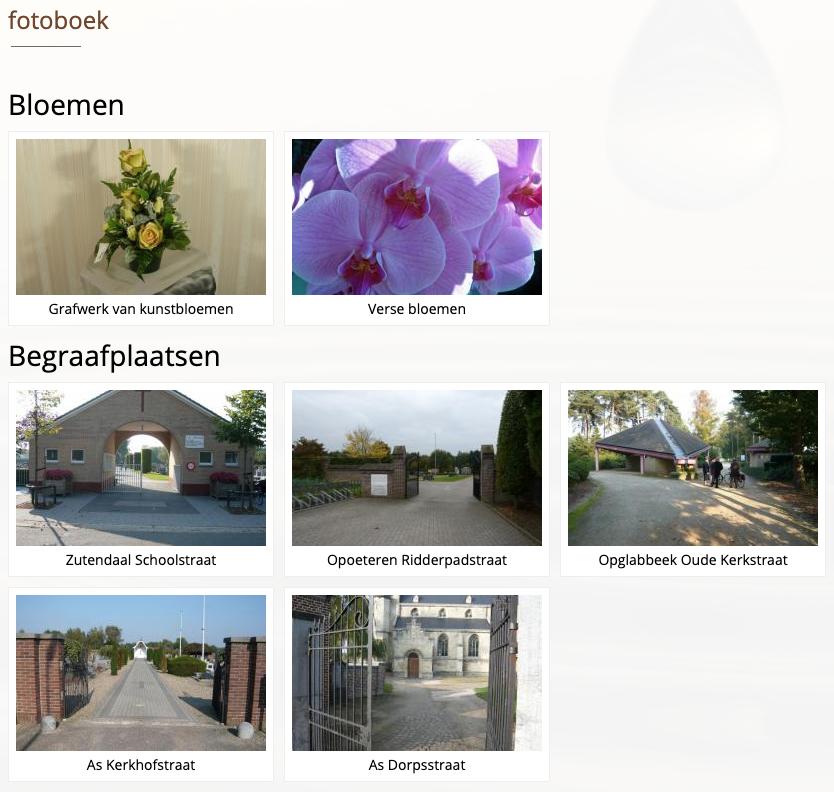 VM Begrafenissen fotoboek