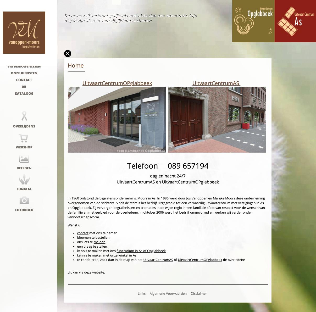 VM Begrafenissen homepage