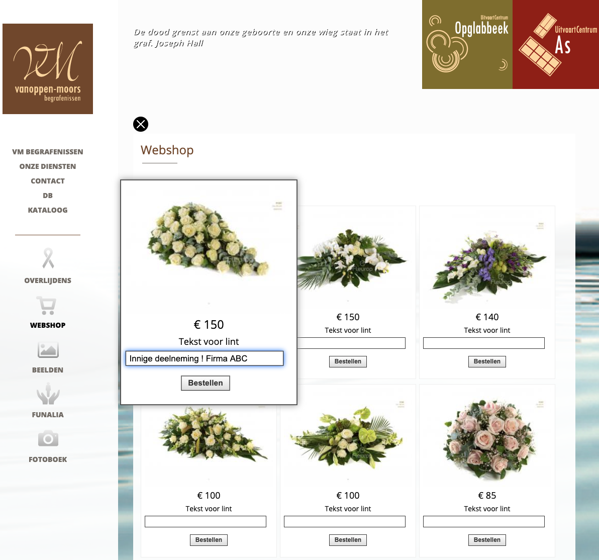 VM Begrafenissen webshop