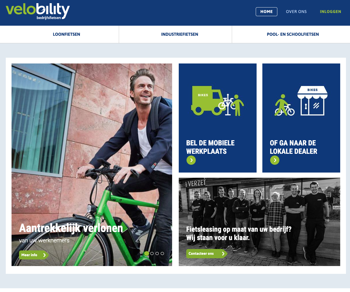 Velobility homepage