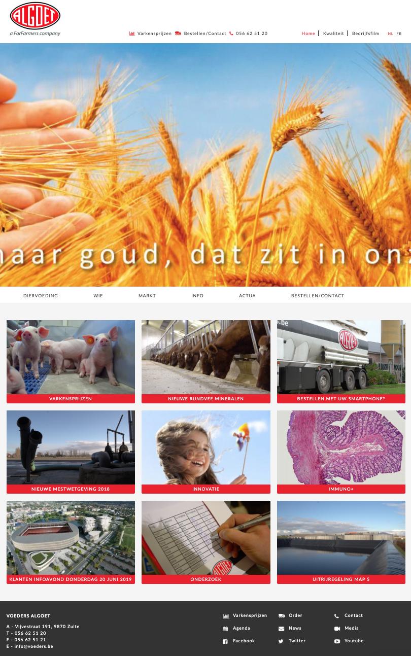 Voeders Algoet homepage