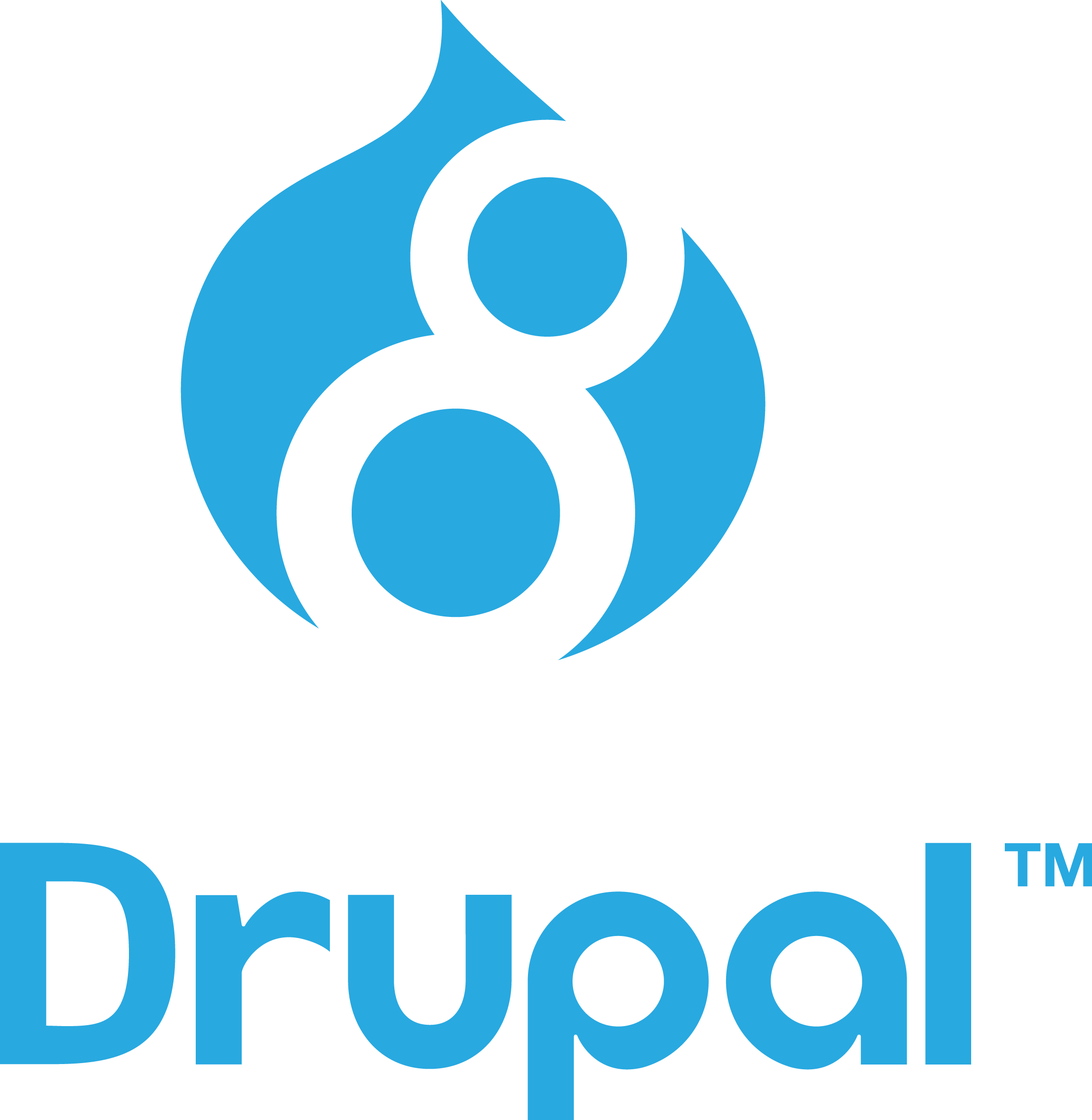 Drupal logo stacked