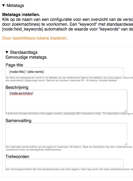 Metatags voor Google instellen